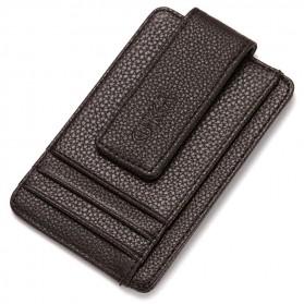 CUIKCA Dompet Kartu dengan Klip - Brown