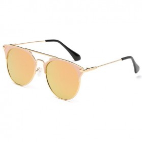 Kacamata Wanita Sunglasses Anti UV - Golden