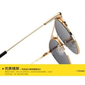 Kacamata Wanita Sunglasses Anti UV - Golden - 3