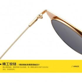 Kacamata Wanita Sunglasses Anti UV - Golden - 4