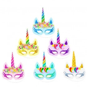 Set Topeng Masquerade Model Unicorn 12 PCS - Multi-Color - 3