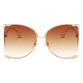 Kacamata Wanita Big Frame Fashion Sunglasses - MM1845 - Brown - 2