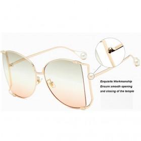 Kacamata Wanita Big Frame Fashion Sunglasses - MM1845 - Brown - 3
