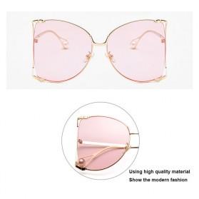 Kacamata Wanita Big Frame Fashion Sunglasses - MM1845 - Brown - 4