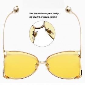 Kacamata Wanita Big Frame Fashion Sunglasses - MM1845 - Brown - 5