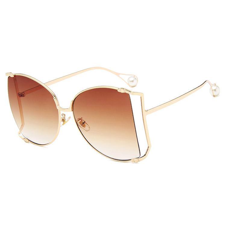 ... Kacamata Wanita Big Frame Fashion Sunglasses - MM1845 - Brown - 1 ... 3e77232437