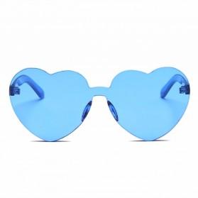 Kacamata Gaya Wanita Model Hati - Blue - 2