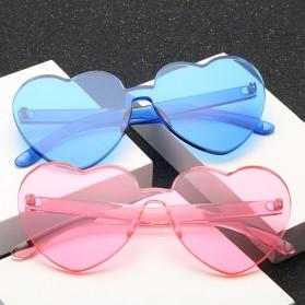Kacamata Gaya Wanita Model Hati - Blue - 3