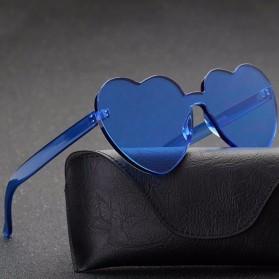 Kacamata Gaya Wanita Model Hati - Blue - 4