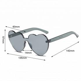 Kacamata Gaya Wanita Model Hati - Blue - 5