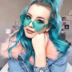 Kacamata Gaya Wanita Model Hati - Blue - 6