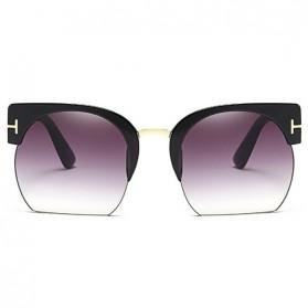 Kacamata Vintage Wanita Semi Rimless Fashion Sunglasses - Gray - 1