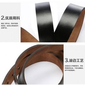 Tali Ikat Pinggang Kulit Men Elegant 110cm - Brown - 5