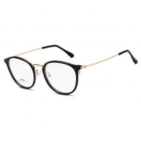 Frame Kacamata Wanita Fashion Glasses - Black