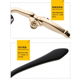 Kacamata Wanita Luxury Sunglasses Anti UV - Black - 5