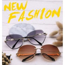 Kacamata Wanita Luxury Sunglasses Anti UV - Brown - 2