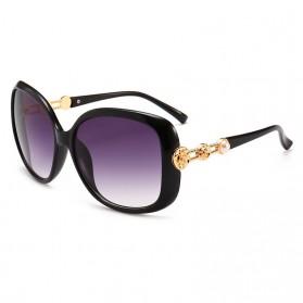 Kacamata Wanita Mewah Sunglasses Anti UV - Black