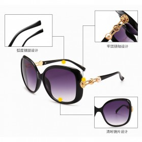 Kacamata Wanita Mewah Sunglasses Anti UV - Brown - 2