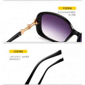 Kacamata Wanita Mewah Sunglasses Anti UV - Brown - 3