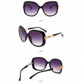 Kacamata Wanita Mewah Sunglasses Anti UV - Brown - 4