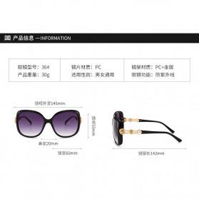 Kacamata Wanita Mewah Sunglasses Anti UV - Brown - 7