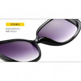 Kacamata Wanita Mewah Sunglasses Anti UV - Brown - 8