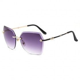 Kacamata Wanita Elegant Sunglasses Anti UV - Black