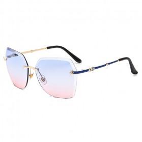 Kacamata Wanita Elegant Sunglasses Anti UV - Blue