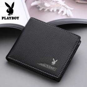 Playboy Dompet Pria Model Bifold Wallet - PB-001 - Black