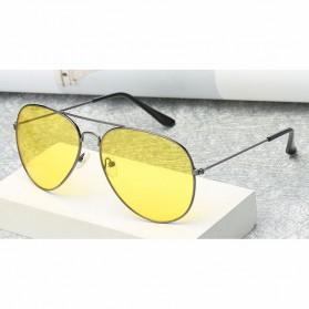 Kacamata Aviator Pria Night Vision - Golden