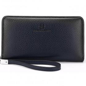 FEIDIKABOLO Dompet Pria Long Zipper Wallet - 009 (Replika 1:1) - Dark Blue