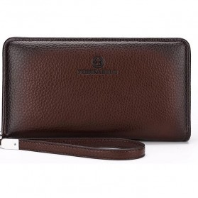 FEIDIKABOLO Dompet Pria Long Zipper Wallet - 009 (Replika 1:1) - Brown