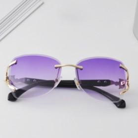 Kacamata Fashion Anak Perempuan Frameless Sunglasses - Purple