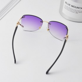 Kacamata Fashion Anak Perempuan Frameless Sunglasses - Purple - 2