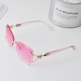 Kacamata Fashion Anak Perempuan Frameless Sunglasses - Purple - 3