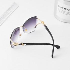 Kacamata Fashion Anak Perempuan Frameless Sunglasses - Gray - 2