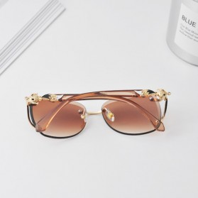 Kacamata Fashion Anak Perempuan Frameless Sunglasses - Gray - 4