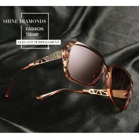 Kacamata Wanita Korean Sunglasses Polarized Anti UV - Black/Blue - 5