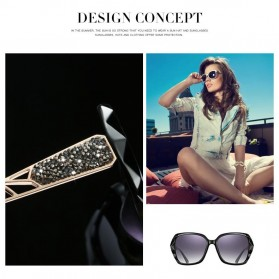 Kacamata Wanita Korean Sunglasses Polarized Anti UV - Blue/Gray - 4