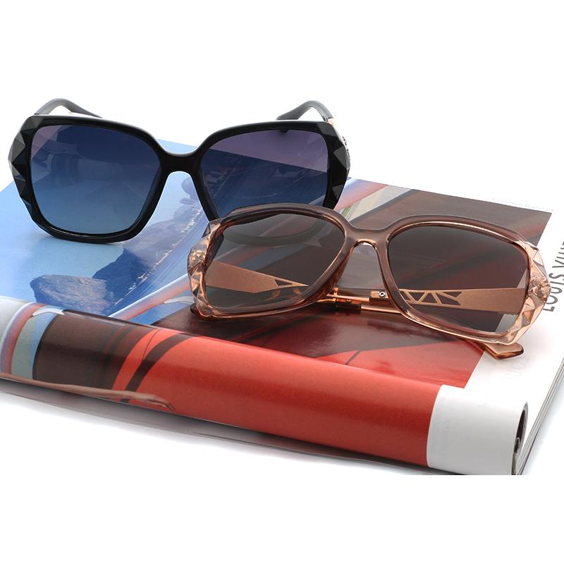 Kacamata Wanita Korean Sunglasses Polarized Anti UV - Brown - 6 ... 106e0ad598