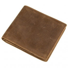 Dompet Kulit  Pria Vintage Oil Wax Cowhide Leather - Brown