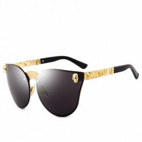 Kacamata Wanita Skull Gothic Sunglasses Anti UV - Black - 3