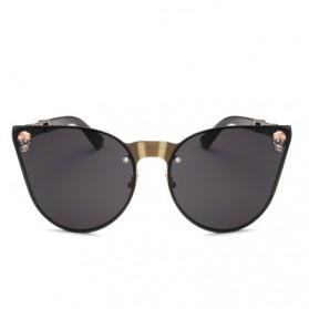Kacamata Wanita Skull Gothic Sunglasses Anti UV - Golden - 2