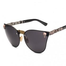 Kacamata Wanita Skull Gothic Sunglasses Anti UV - Golden - 3