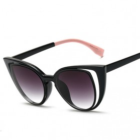 Kacamata Wanita Fashionable Cateye Sunglasses Anti UV - Black
