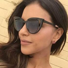 Kacamata Wanita Fashionable Cateye Sunglasses Anti UV - Black - 2