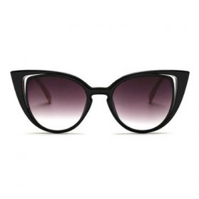 Kacamata Wanita Fashionable Cateye Sunglasses Anti UV - Black - 3