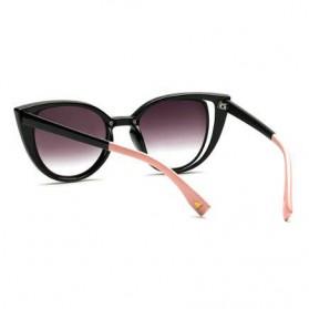 Kacamata Wanita Fashionable Cateye Sunglasses Anti UV - Black - 4