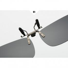 Ralferty Lensa Clip-on Kacamata Sunglasses Polarized - 18X7-005 - Blue - 5
