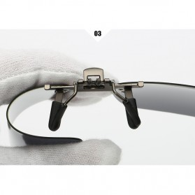 Ralferty Lensa Clip-on Kacamata Sunglasses Polarized - 18X7-005 - Blue - 7